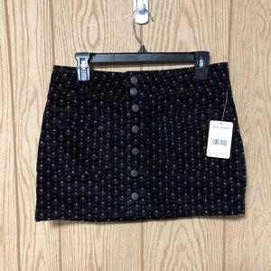 Free People Joanie Patterned Corduory Mini Skirt